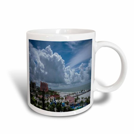 3dRose Image of Clearwater Beach From High Balcony - Ceramic Mug, - Mugs Clearwater