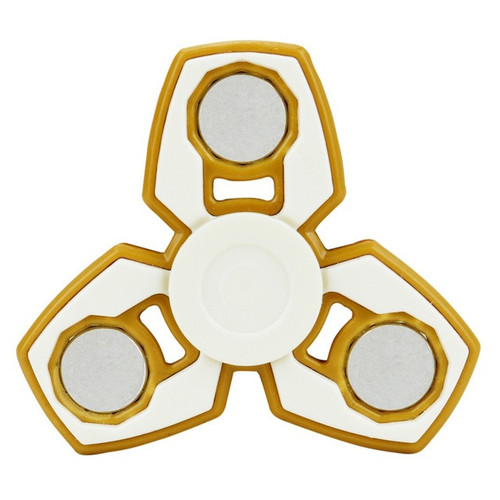 Hand Fidget Spinners Plastic EDC For Autism and ADHD Long Time Rotating Anti Stress Toys - Orange
