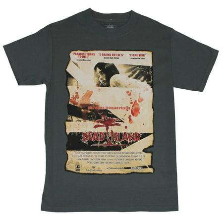 Dead Island (Hit Enix PS3 XBOX 360 Game) Mens T-Shirt  - Blood Splattered
