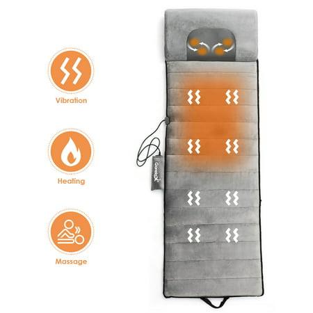 Foldable Full Body Massage Mat Heated Neck Massager w/ 5 vibration modes Five Motor Massage Mat