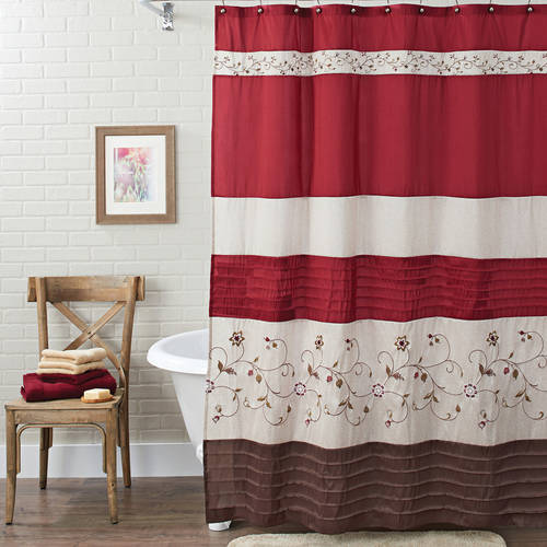 Wonderful Better Homes And Gardens Floral Embroidered Shower Curtain