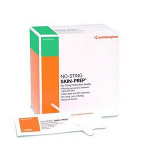 - No-sting SKIN-PREP Protective Swabs Alcohol-free [ Sold by the Box, Quantity per Box : 50 EA, Category : Wipes, Product Class : Ostomy ]