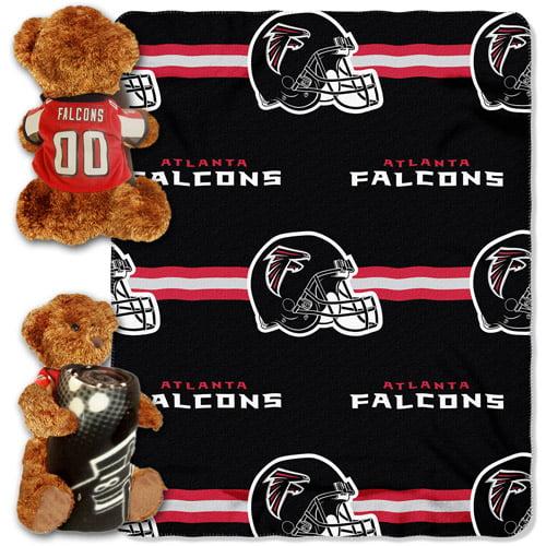 NFL Atlanta Falcons Bear Throw/Pillow Combo