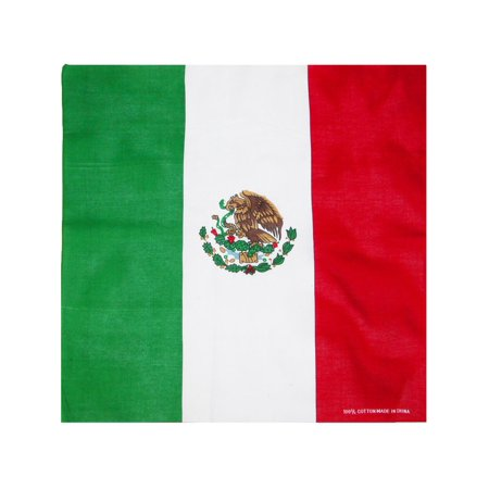 CTM  Cotton Mexican Flag Bandana