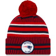 New England Patriots New Era 2019 NFL Sideline Home Reverse Sport Knit Hat - Red/Navy - OSFA