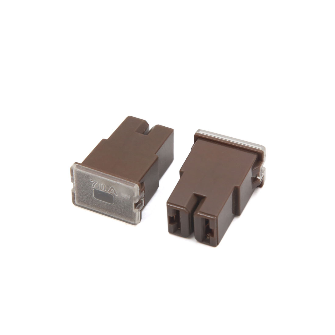 10Pcs 32V 70A Brown Plastic Female PAL Blades Fuse Connector for Cars Vehicle - image 2 de 3