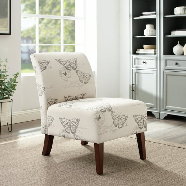Linon Lily Linen Accent Chair, Multiple Patterns