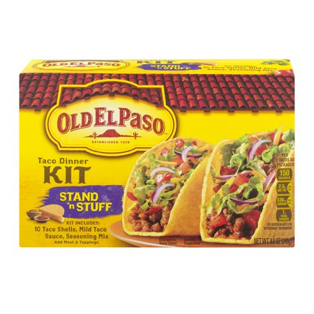 Frontier Taco - (4 Pack) Old El Paso⢠Stand 'n Stuff Taco Dinner Kit 8.8 oz Box, 8.8 OZ