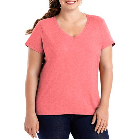 Hanes Womens X Temp Short Sleeve V Neck T Shirt