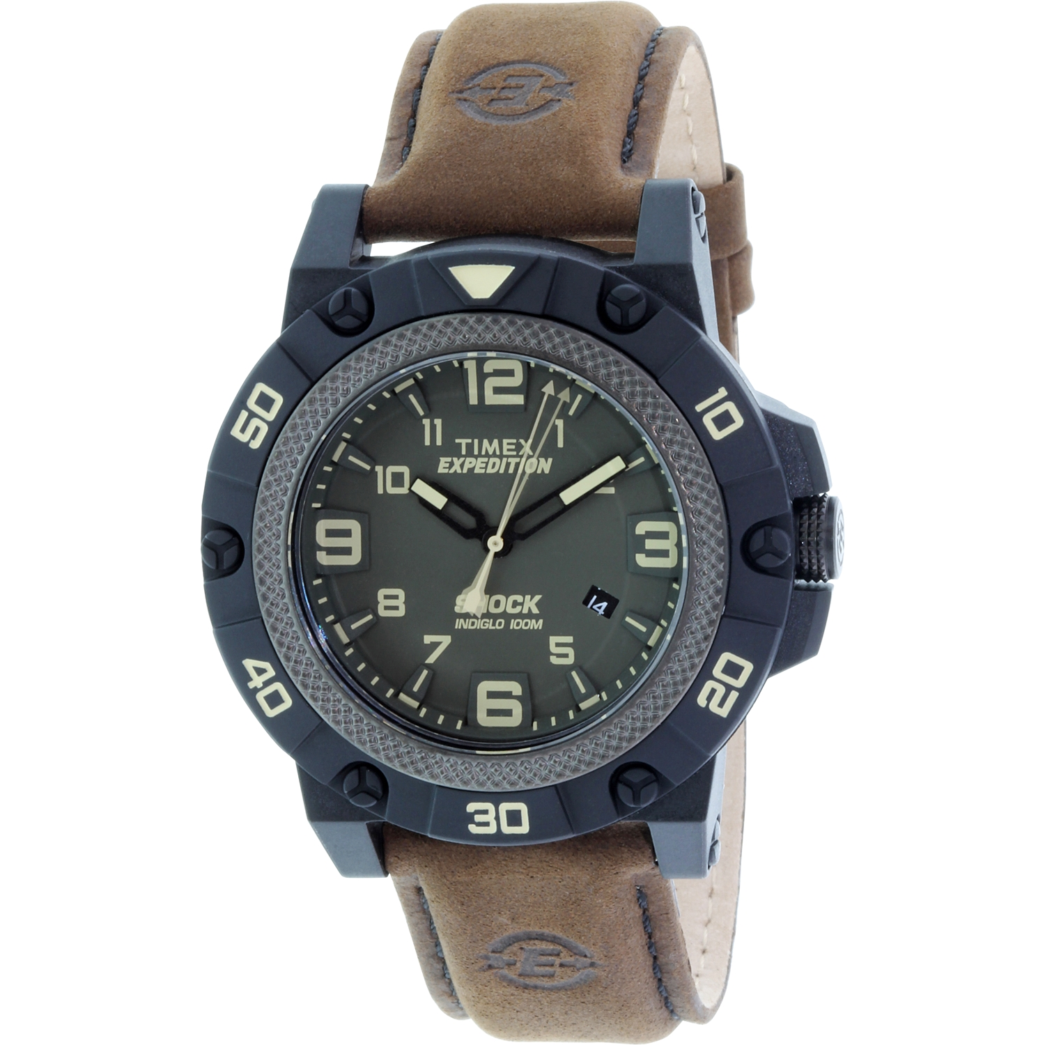 Timex Men's Expedition TW4B01200 Brown Leather Leather Analog Quartz Sport Watch by Timex