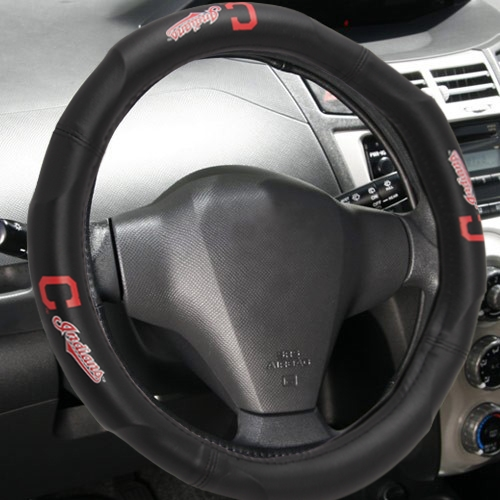 "MLB Cleveland Indians Steering Wheel Cover (Made to fit 14.5""-15.5"" steering wheels"