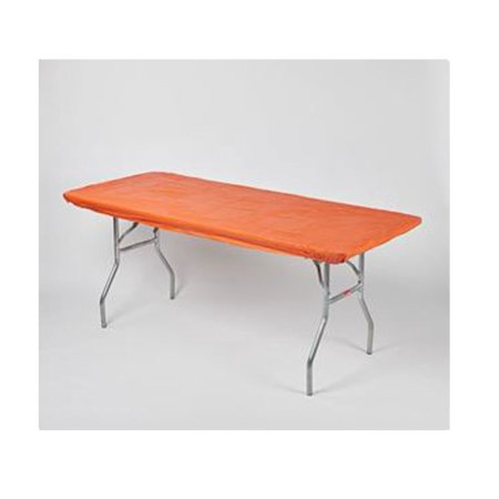 """Kwik Covers 30"""" x 72"""" Orange Fitted Table Cover - single By KwikCovers"""