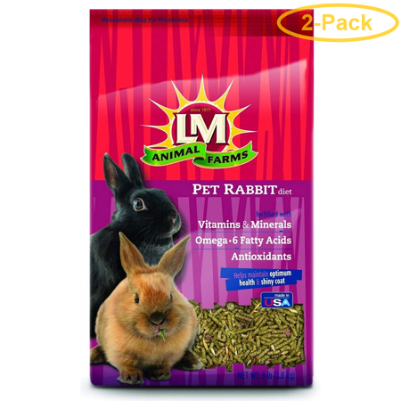 LM Animal Farms Pet Rabbit Diet 8 lbs - Pack of 2