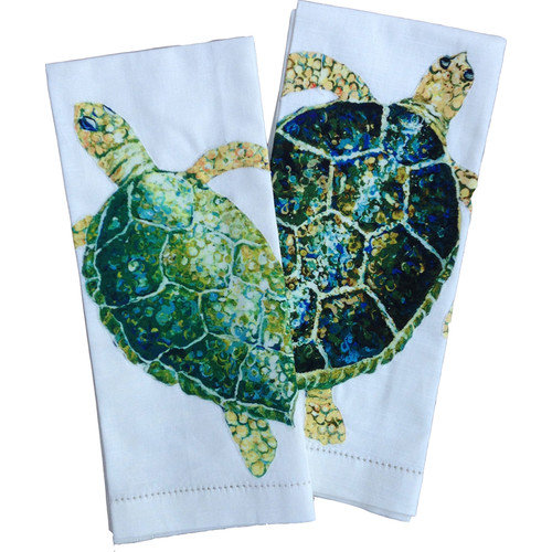 My Island Sea Turtle Tea Towels (Set of 2)