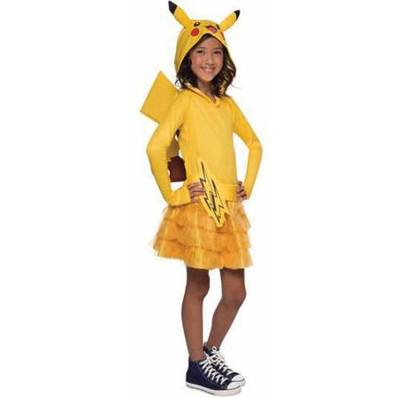Pokemon Pikachu Hoodie Dress Child Halloween Costume - Pikachu Girl