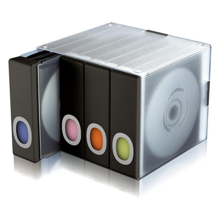 Atlantic Parade Stackable CD/ DVD Storage Organizer Cube (96 CDs/DVDs), Black Stackable Cd Storage