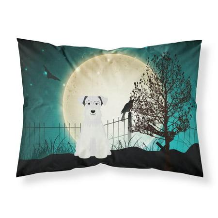 Halloween Scary Miniature Schanuzer White Fabric Standard Pillowcase BB2243PILLOWCASE