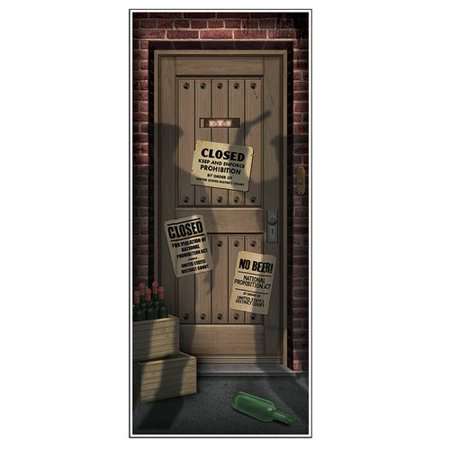 The Party Aisle Speakeasy Door Cover Wall - Speakeasy Party Attire
