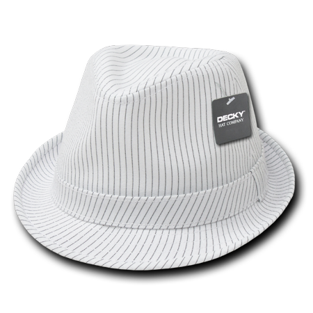 DECKY PINSTRIPE FEDORA FEDORAS HAT CAP HATS  For Men Women White/White
