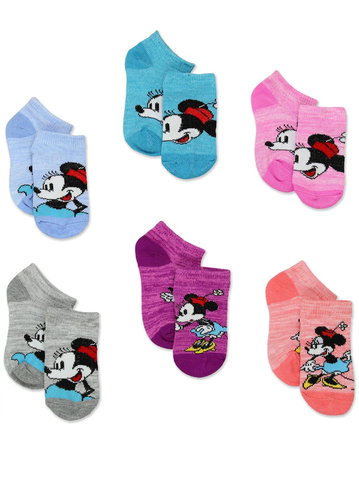 Low-Cut Socks Disney Minnie Mouse Toddler Girls 6 pk Size 2T-4T