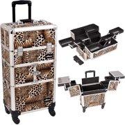Sunrise I3664LPBR Leopard Trolley Makeup Case - I3664