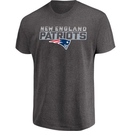 Men's Majestic Heathered Charcoal New England Patriots Come Into Play T-Shirt