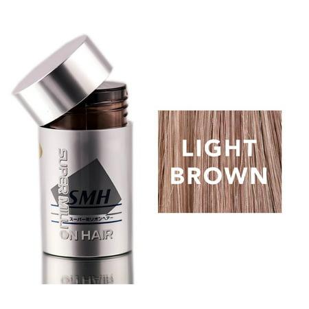 Super Million Hair Light Brown Enhancement Fibers