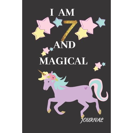 Journal : A Unicorn I Am 7 Years and Magical Cute Purple Gold Happy Birthday Gift Card Lined Memory Activity Notebook, Organizer, Diary Sketchbook and Party Keepsake for Writing, Drawing, Painting Doodle for Seven Yr Old Kids, Girls, and Friends (Girl Memory Book)