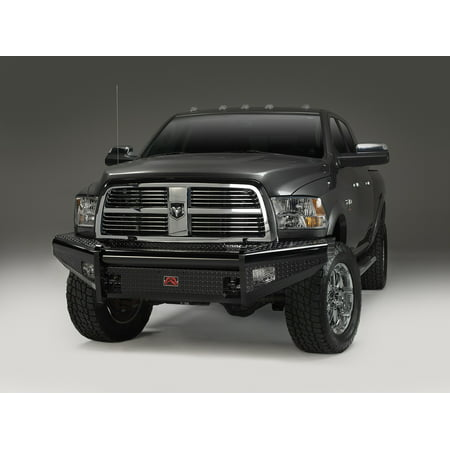Black Powder Coated Grille Guard (Fab Fours DR06-S1161-1 Black Steel Front Ranch Bumper; 2 Stage Black Powder Coated; w/o Full Grill Guard; Incl. Light Cut-Outs;)