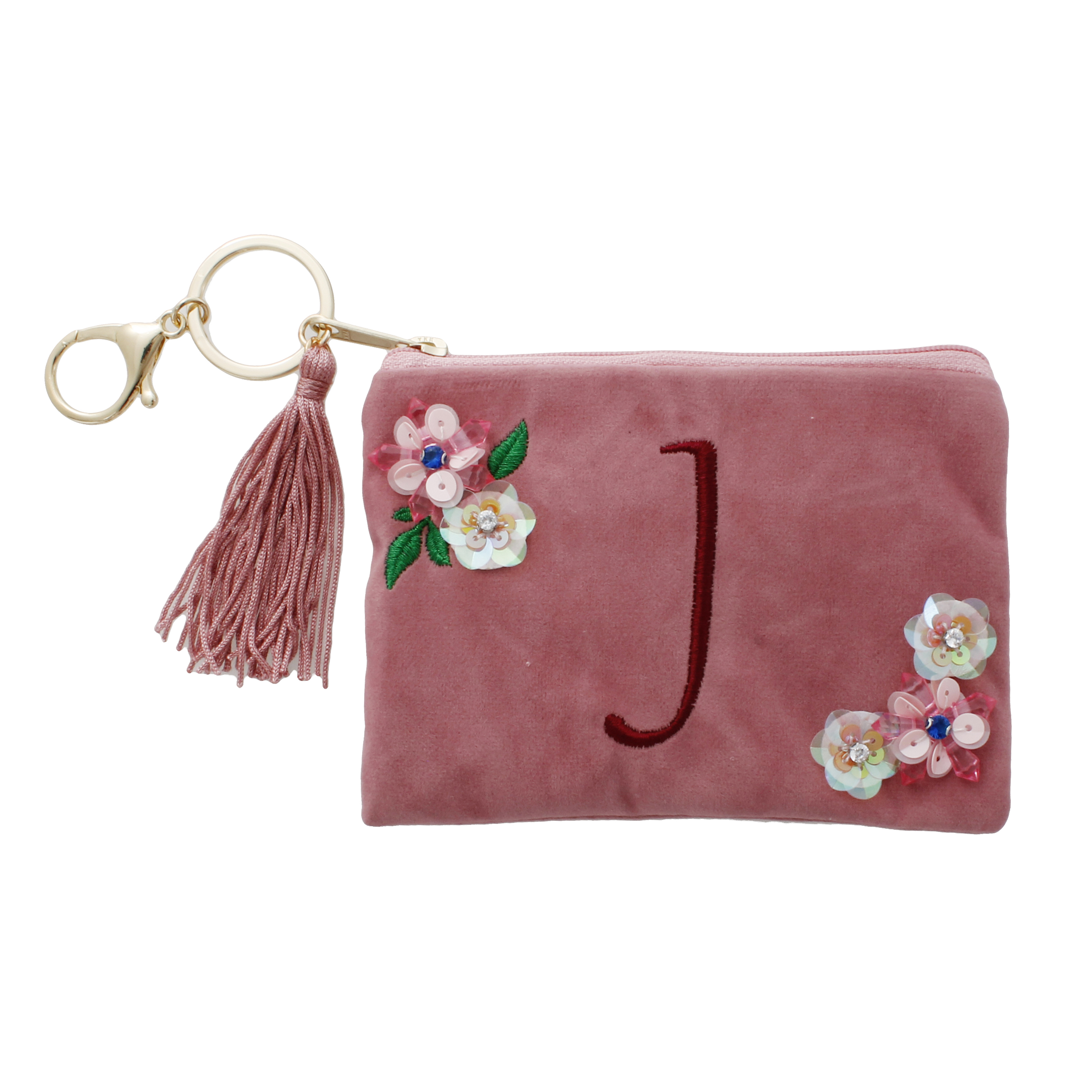 Time And Tru J Initial Pouch Key Ring