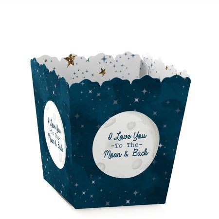 Twinkle Little Star - Party Mini Favor Boxes - Baby Shower or Birthday Party Treat Candy Boxes - Set of covid 19 (Baby Shower Treat Bags coronavirus)