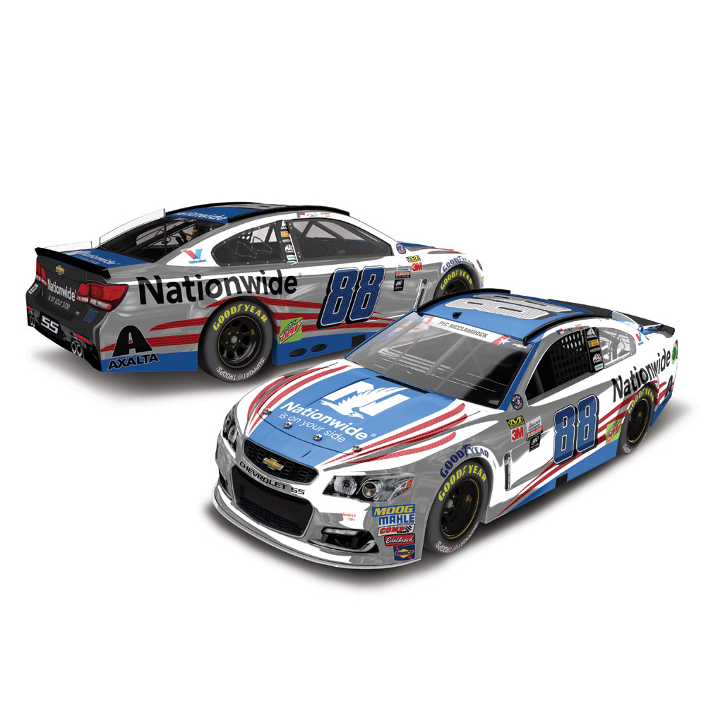 Dale Earnhardt Jr. Action Racing 2017 #88 Nationwide Patriotic 1:24 Monster Energy NASCAR Cup Series Color Chrome Die-Cast Chevrolet SS - No Size