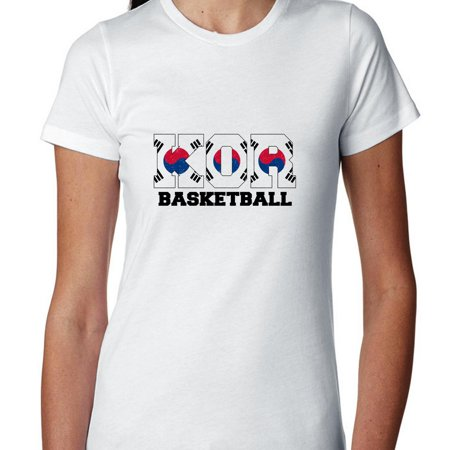 South Korea Basketball   Olympic Games   Rio   Flag Womens Cotton T Shirt