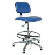 Bevco ESD Cleanroom Chair, Upholstered, 300 lb. Weight Limit, Blue, 4550E2-BLUE