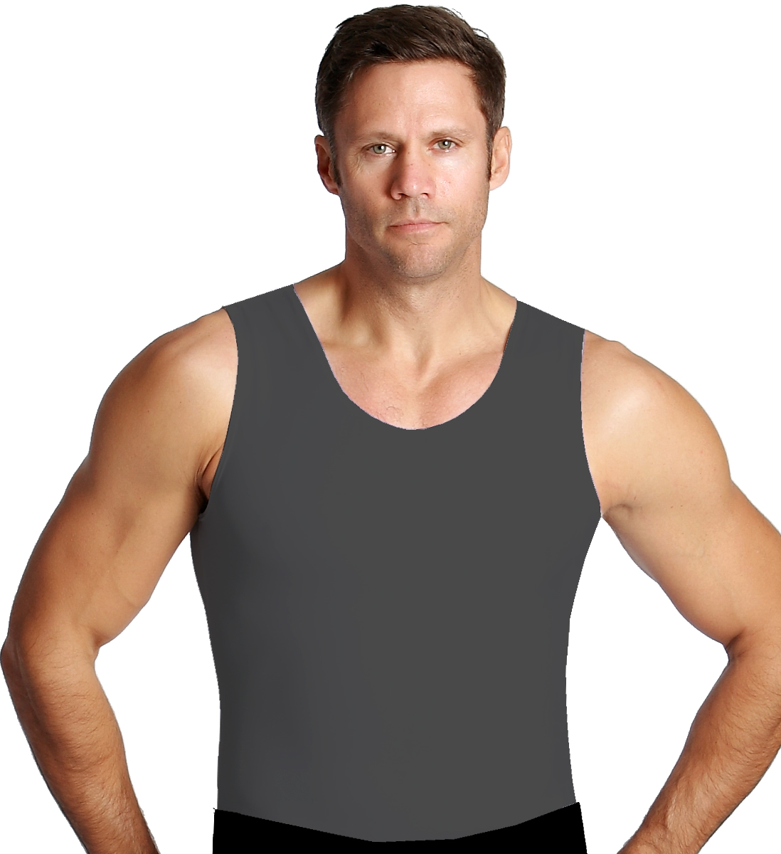 3 Pack Men's Firming Compression Muscle Tank Shirt