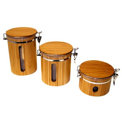 Le Chef Bamboo Storage Canister Set