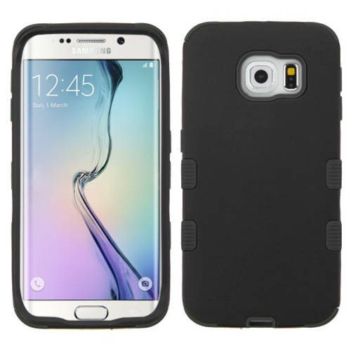 Samsung G925 Galaxy S6 Edge MyBat Rubberized TUFF Hybrid Phone Protector Cover