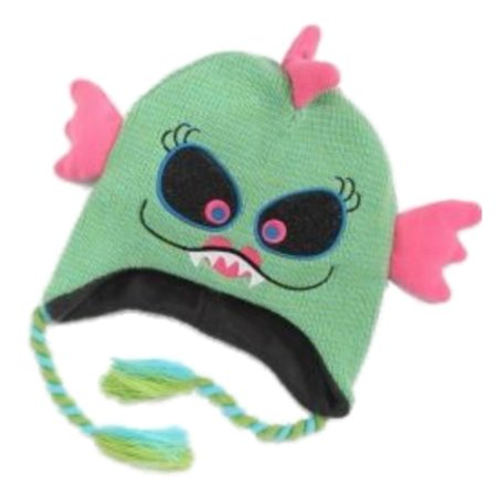 My Halloween Girls Green Monster Trapper Hat Peruvian Beanie Sea Monster - Peru Halloween