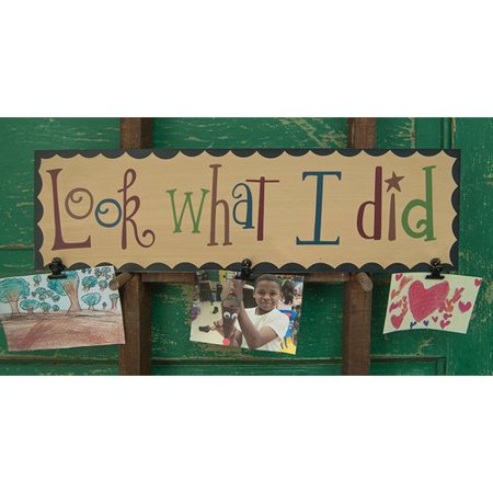 The Hearthside Collection Look What I Did' Wall Mounted Bulletin Board (Hearthside Garden)