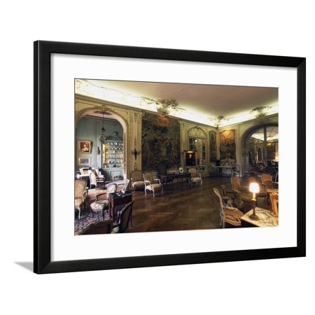 Tapestry Hall, Chateau of Arcangues, 20th Century, Aquitaine, France Framed Print Wall Art