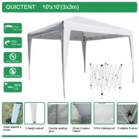 Quictent 8x8 ft Pop up Canopy Outdoor Gazebo without Sides White w/