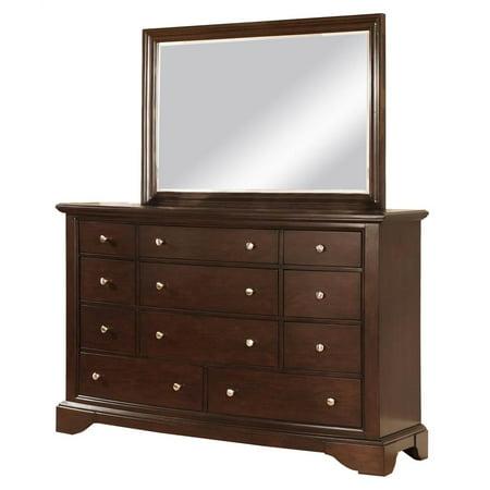 dresser with mirror in espresso finish. Black Bedroom Furniture Sets. Home Design Ideas