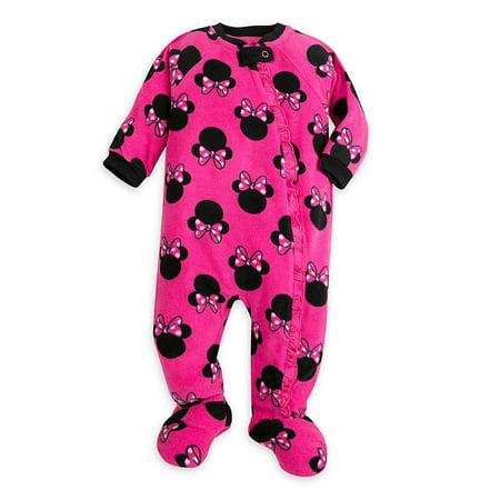Disney Store Baby Girls Minnie Mouse Blanket Sleeper, Dark Pink