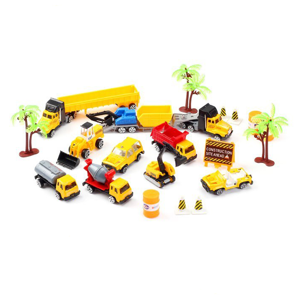 Construction Toys Sets, Engineering Vehicles 21 PCs, Bulldozers, Tank Truck, Asphalt Car... by