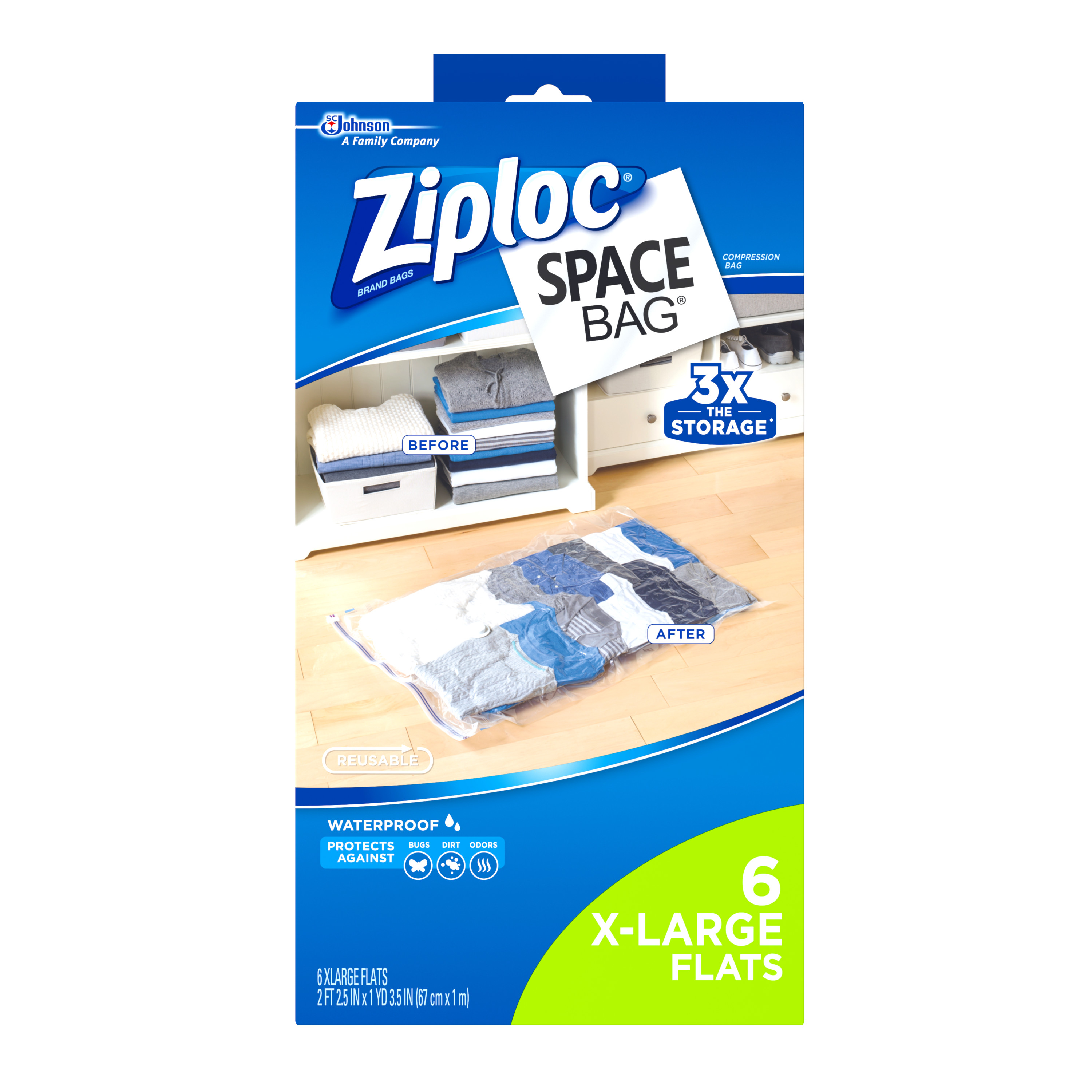 Generic S.c. Johnson Ziploc Space Bag Extra Large Vacuum Seal Bags 6 Count