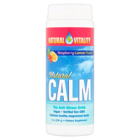 Natural Vitality Natural Calm Raspberry Lemon Flavor The Anti Stress Drink  8 Oz