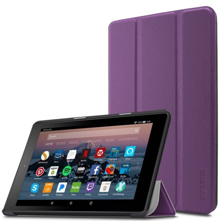 "Infiland Slim Lightweight Cover Case for All-New Amazon Fire 7 (7th Gen, 2017 Release) 7"" Tablet, Purple"
