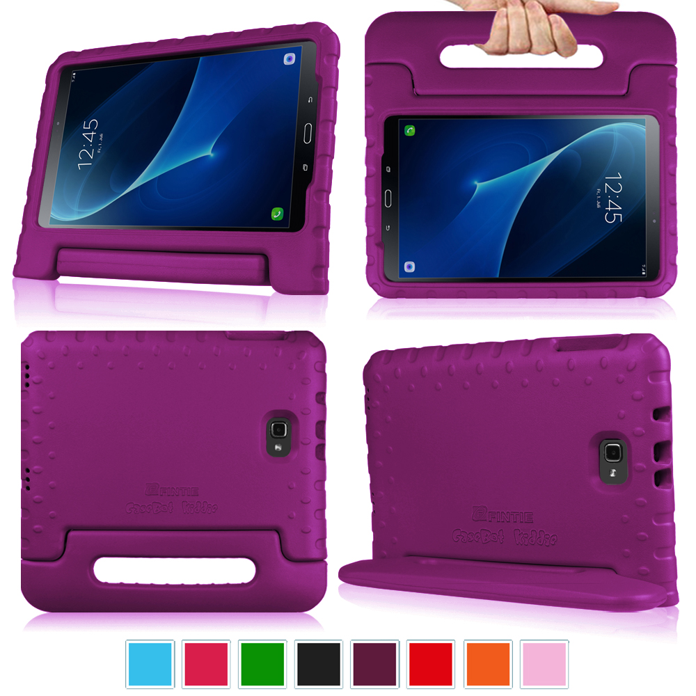 Fintie Case for Samsung Galaxy Tab A 10.1 SM-T580/T585 Tablet - Lightweight Shock Proof Convertible Handle Cover, Purple