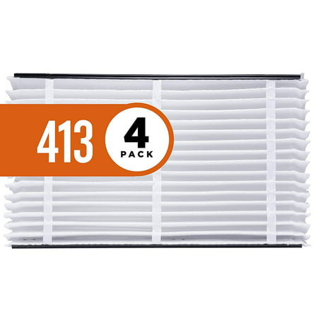 Aprilaire 413 Air Filter for Aprilaire Whole Home Air Purifiers, MERV 13 (Pack of 4)