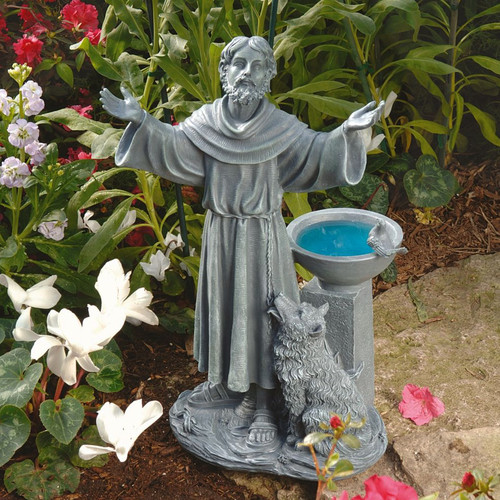 Design Toscano St. Francis's Blessing Garden Statue by Garden Statues
